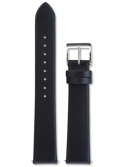 Lederband schw., 17 mm