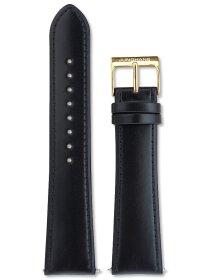 Lederuhrenarmband, schw 21
