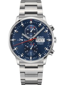 COMMANDER II Automatic Chronograph, blue, Metallband
