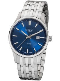 Armbanduhr Edelstahl blau