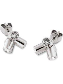 Lustro Earrings Stud, Sst, Whi
