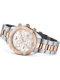 PR100 Quartz, Lady, Chrono, rosé, Diamanten