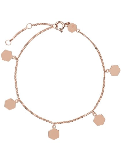 Essentielle Hexagon Charms rosé