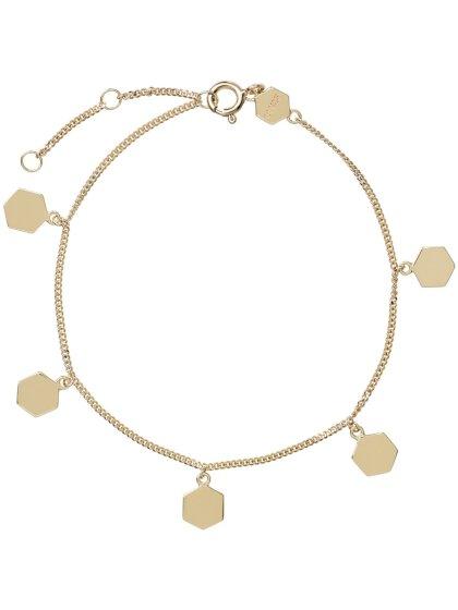 Essentielle Hexagon Charms goldf