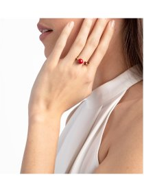 Ring PVD poliert champ Thin red