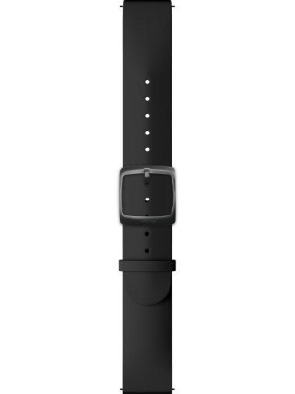 Uhrenarmband, Silikon, schwarz, 20 mm Anschluss