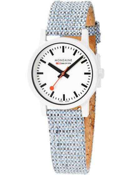 Essence Weiß, 32mm, Armband Blau
