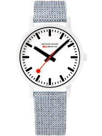 Essence Weiß, 41mm, Armband Blau