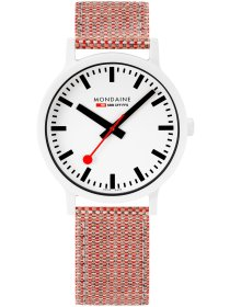 Essence Weiß, 41mm, Armband Rot