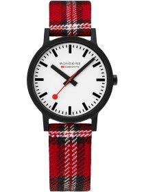 Essence Scottish Schwarz, Armband Rot, 41 mm