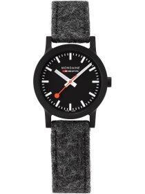 Essence Schwarz, 32mm, Armband Dunkelgrau