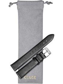 Strap 16 mm Leather, Dark Grey Metallic/ Silver