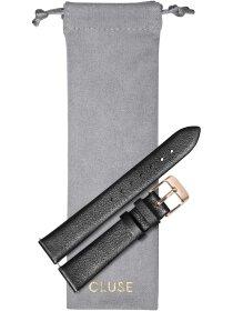 Strap 16 mm Leather, Dark Grey Metallic/ Rose