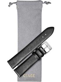 Strap 18 mm Leather, Dark Grey Metallic/ Silver