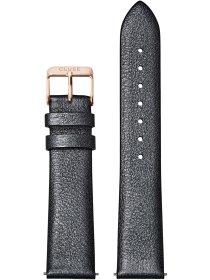 Strap 18 mm Leather, Dark Grey Metallic/ Rose
