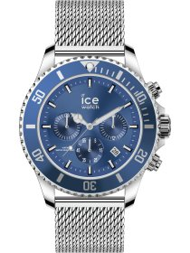 ICE steel - Mesh blue - Chrono - L