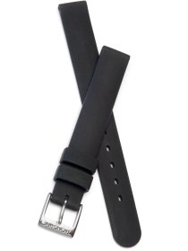 Black rubber strap, 12 mm