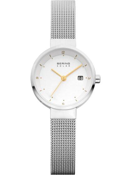 Solar-Armbanduhr mit Milanaise Armband