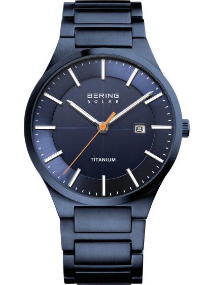 Armbanduhr mit Titanband Slim Solar