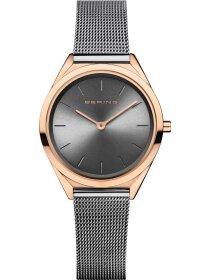 Armbanduhr mit Milanaise Armband ultra slim