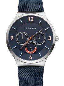 Multifunktionsuhr mit Milanaise Armband Blau