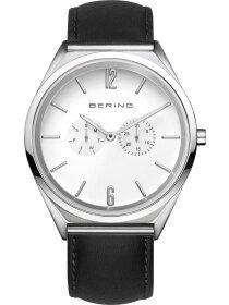 Armbanduhr mit Kalbslederband Slim Design