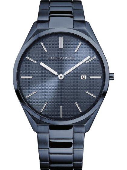 Armbanduhr mit Edelstahlband Ultra Slim