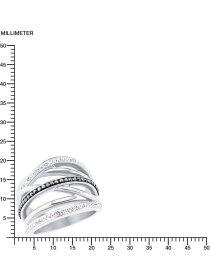 Damenring Edelelstahl, Größe 58