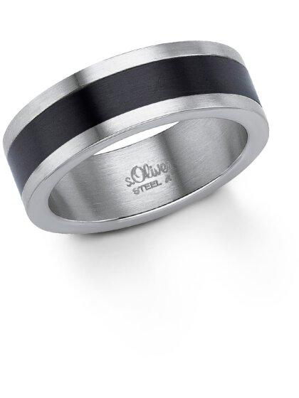 Edelstahl Ring IP schwarz, Größe 64