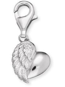 Charm Herzflügel, silberfarben, ERCHEARTWING
