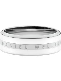 Classic Ring Satin white Stahl