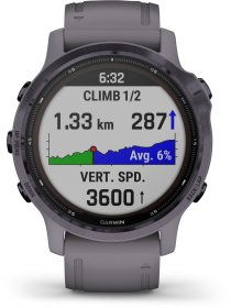 Garmin FENIX 6S PRO SOLAR m. silikon-armband 20mm, Dunkelgrau