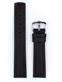 Carbon, schwarz / rot