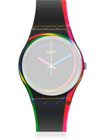 Ersatzband f. Swatch AGB333 - RED SHORE / SILICONE STRAP