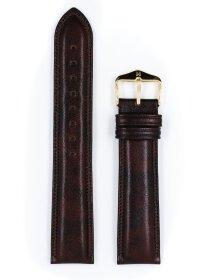 Ascot, braun glänzend, L, 18 mm