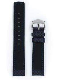 Carbon, blau, L, 18 mm