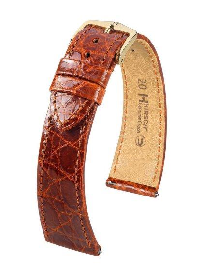 Genuine Alligator M, goldbraun, 18mm