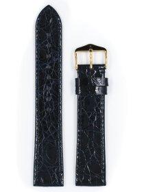 Genuine Croco L, blau glänzend, 20mm