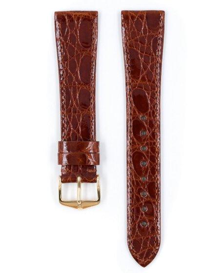 Genuine Croco, goldbraun glänzend, L, 20 mm