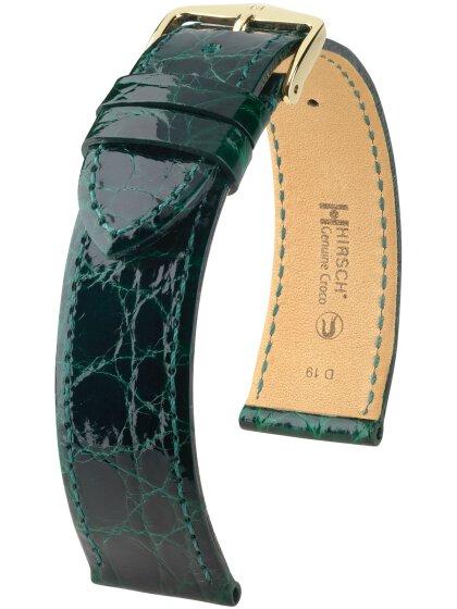 Genuine Croco M, dunkelgrün glänzend, 12mm