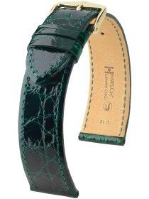 Genuine Croco M, dunkelgrün glänzend, 17mm