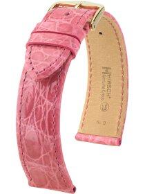 Genuine Croco M, pink glänzend, 12mm