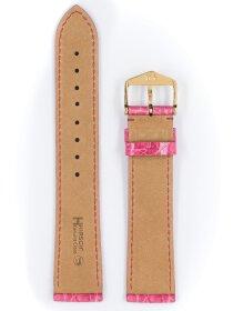 Genuine Croco L, pink glänzend, 20mm