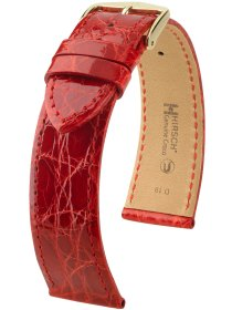 Genuine Croco M, rot glänzend, 15mm
