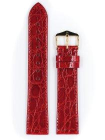 Genuine Croco L, rot glänzend, 20mm