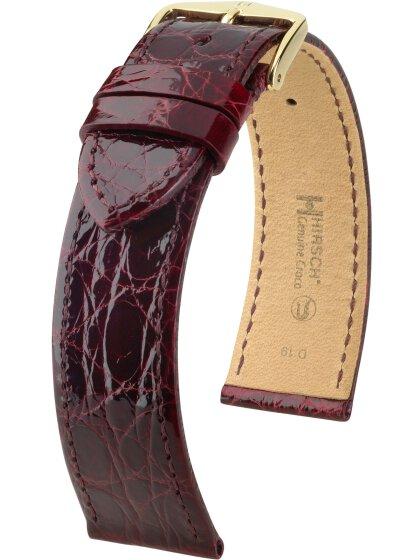 Genuine Croco M, burgunder glänzend, 17mm