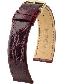 Genuine Croco L, burgunder glänzend, 19mm
