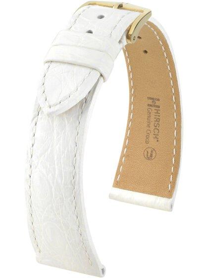 Genuine Croco L, weiß glänzend, 19mm