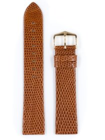 Lizard, goldbraun glänzend, M, 14 mm