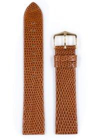 Lizard, goldbraun glänzend, M, 18 mm